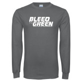 Charcoal Long Sleeve T Shirt-Bleed Green