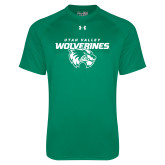 Under Armour Kelly Green Tech Tee-Secondary Logo