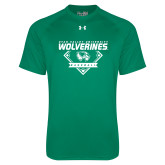 Under Armour Kelly Green Tech Tee-UVU Baseball