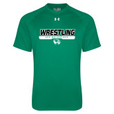 Under Armour Kelly Green Tech Tee-UVU Wrestling