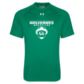 Under Armour Kelly Green Tech Tee-Wolverine Wrestling