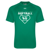 Under Armour Kelly Green Tech Tee-Wolverine Softball