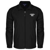 Full Zip Black Wind Jacket-Secondary Logo