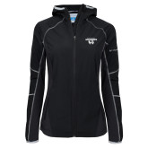 Columbia Ladies Sweet As Black Hooded Jacket-Secondary Logo