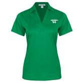 Ladies Kelly Green Performance Fine Jacquard Polo-Secondary Logo