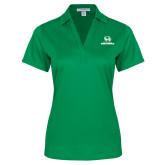 Ladies Kelly Green Performance Fine Jacquard Polo-Utah Valley Wolverines Logo