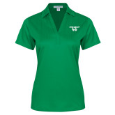 Ladies Kelly Green Performance Fine Jacquard Polo-Utah Valley Logo