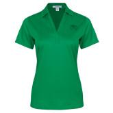 Ladies Kelly Green Performance Fine Jacquard Polo-Primary Logo