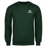 Dark Green Fleece Crew-Utah Valley University