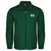 Full Zip Dark Green Wind Jacket-Primary Logo