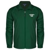 Full Zip Dark Green Wind Jacket-Secondary Logo