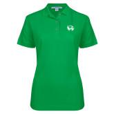 Ladies Easycare Kelly Green Pique Polo-Primary Logo