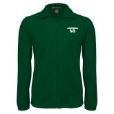 Fleece Full Zip Dark Green Jacket-Secondary Logo