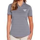 Ladies Callaway Horizontal Textured Steel Grey Polo-Secondary Logo