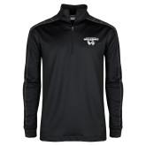 Nike Golf Dri Fit 1/2 Zip Black/Grey Pullover-Secondary Logo