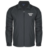 Full Zip Charcoal Wind Jacket-Secondary Logo