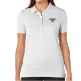 Ladies Callaway Opti Vent White Polo-Secondary Logo