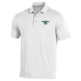 Under Armour White Performance Polo-Secondary Logo
