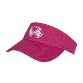 Pink Athletic Mesh Visor-Primary Logo
