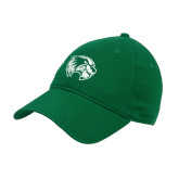 Kelly Green Twill Unstructured Low Profile Hat-Primary Logo