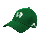 Adidas Kelly Green Structured Adjustable Hat-Primary Logo