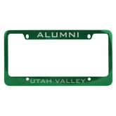 Alumni Metal Green License Plate Frame-UTAH VALLEY