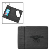 Ronan Black Wireless Charger Mouse Pad-Secondary Logo Engraved