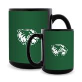 Full Color Black Mug 15oz-Primary Logo