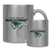 Full Color Silver Metallic Mug 11oz-Secondary Logo