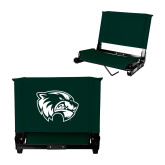 Stadium Chair Dark Green-Primary Logo