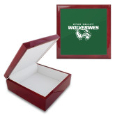 Red Mahogany Accessory Box With 6 x 6 Tile-Secondary Logo
