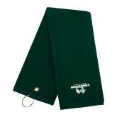 Dark Green Golf Towel-Secondary Logo