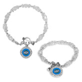 Crystal Jewel Toggle Bracelet with Round Pendant-UWF Shield