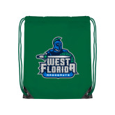 Kelly Green Drawstring Backpack-West Florida Argonauts