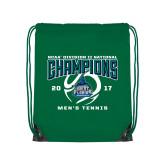 Kelly Green Drawstring Backpack-NCAA Division II National Champions 2017 Mens Tennis