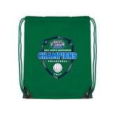 Kelly Green Drawstring Backpack-2017 Volleyball Champions