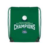 Kelly Green Drawstring Backpack-2018 South Conference Mens Basketball Champions