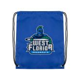 Royal Drawstring Backpack-West Florida Argonauts