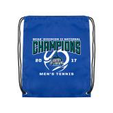 Royal Drawstring Backpack-NCAA Division II National Champions 2017 Mens Tennis