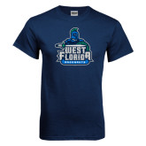 Navy T Shirt-West Florida Argonauts, Custom Tee w/ Name and #