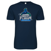 Next Level SoftStyle Navy T Shirt-West Florida Argonauts