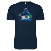 Next Level SoftStyle Navy T Shirt-UWF Argonauts
