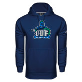 Under Armour Navy Performance Sweats Team Hoodie-UWF Argonauts