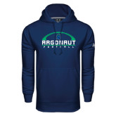 Under Armour Navy Performance Sweats Team Hoodie-Football Design