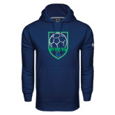Under Armour Navy Performance Sweats Team Hoodie-Soccer Design