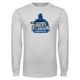 White Long Sleeve T Shirt-West Florida Argonauts
