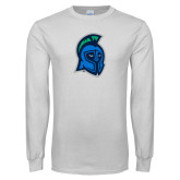 White Long Sleeve T Shirt-Argonaut Head