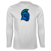 Syntrel Performance White Longsleeve Shirt-Argonaut Head