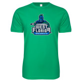 Next Level SoftStyle Kelly Green T Shirt-West Florida Argonauts