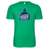 Next Level SoftStyle Kelly Green T Shirt-UWF Argonauts